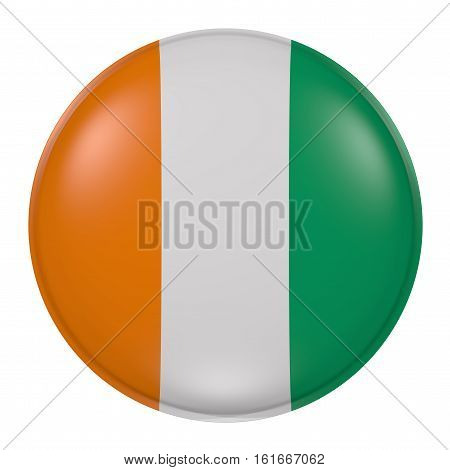 Ivory Coast Button On White Background