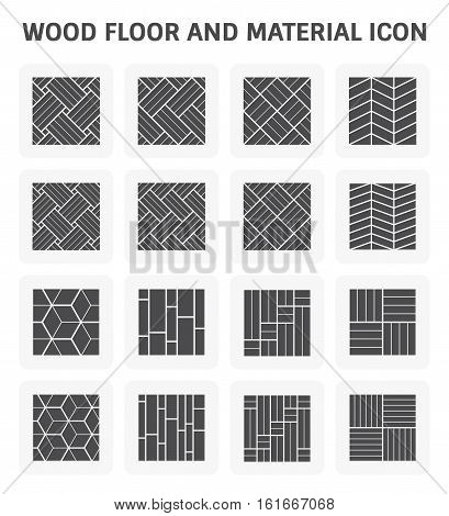 Wood floor pattern and material vector icon set design.