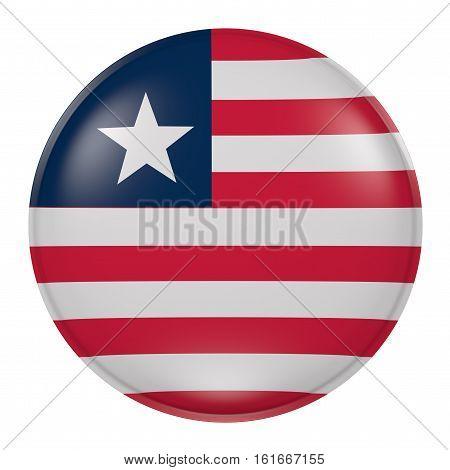 Liberia Button On White Background