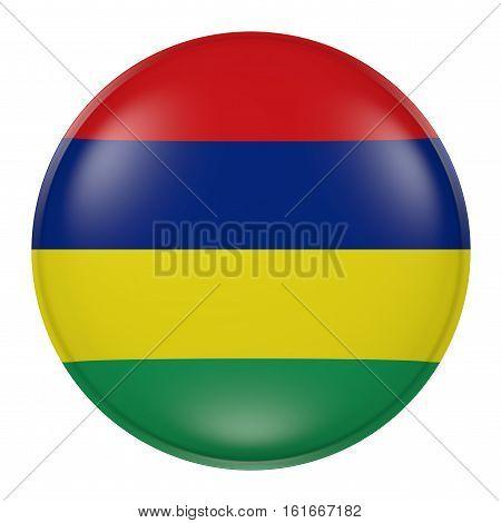 Mauritius Button On White Background