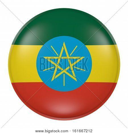 Ethiopia Button On White Background