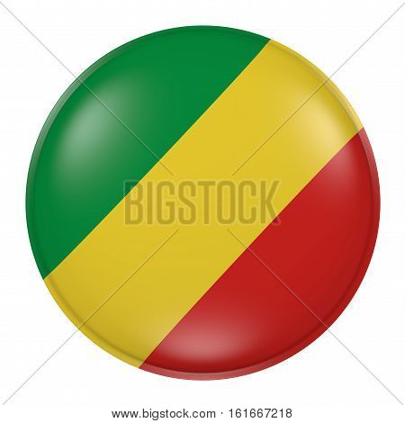 Republic Of Congo Button On White Background