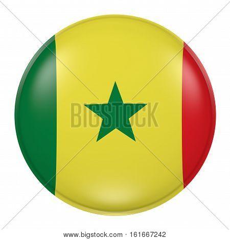 Senegal Button On White Background
