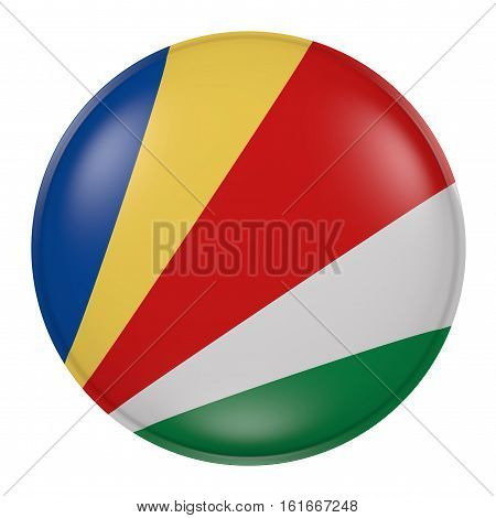 Seychelles Button On White Background