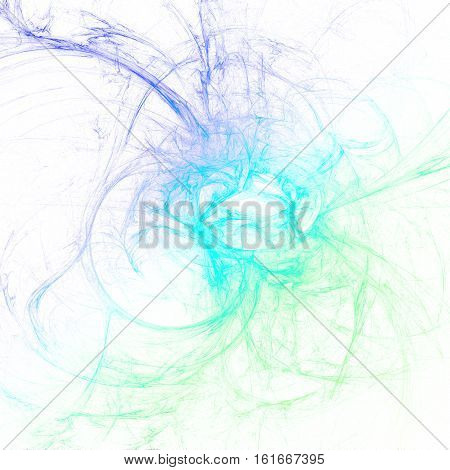 Abstract fractal art background in 3d illustration space geometry. Background consists of fractal multicolor texture lines