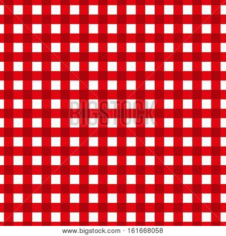 Checkered pattern. Retro tablecloth texture. Vector seamless pattern. Flat design style. Swatch inside