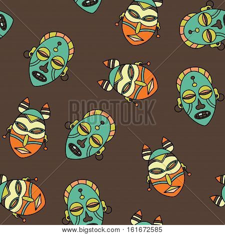 Seamless pattern with voodoo African and American magic vector symbols.