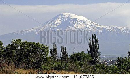 View on mountain Ararat at Yerevan, Armenia.