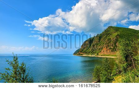 Small Ripples On Water Surface. Lake Baikal