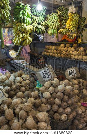 Kandy, Sri Lanka - December 01:, 2016: Various Vegetables In Vegetable Shop In Kandy, Sri Lanka