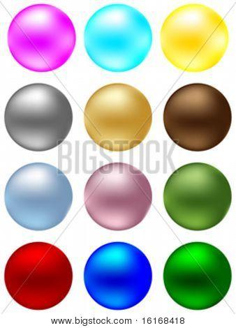 shiny balls different colors vector illustration