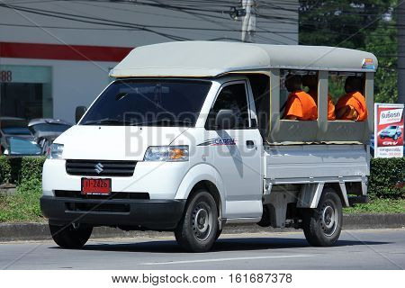 CHIANG MAI THAILAND - OCTOBER 31 2016: Private Suzuki Carry Pick up car. Photo at road no 121 about 8 km from downtown Chiangmai thailand.