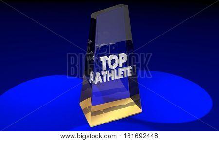 Top Athlete Best Player Award Prize 3d Illustration