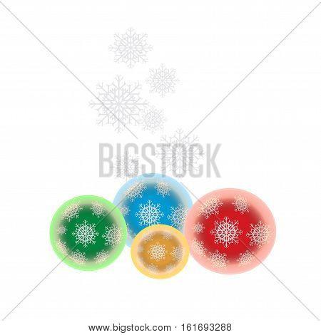 Christmas balls set. Vector eps10 illustration NewYear