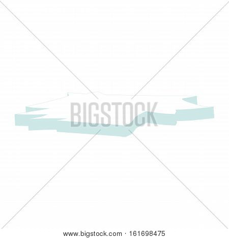 Ice Floe Icon Symbol Design. Vector Ice Floe Illustration Isolated On White Background.