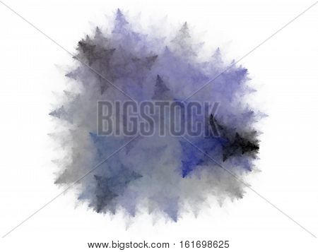Abstract Fractal Blue Spiny Lump