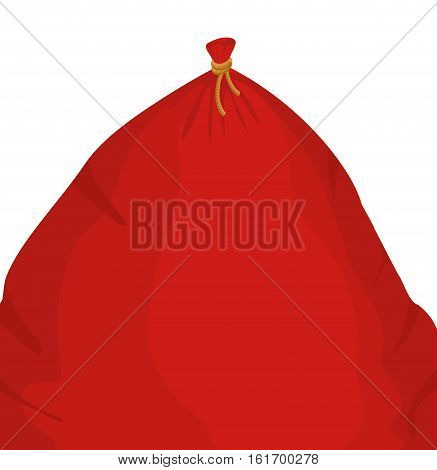 Santa Big Bag. Christmas Sack Red Large. Sackful Gift For Children