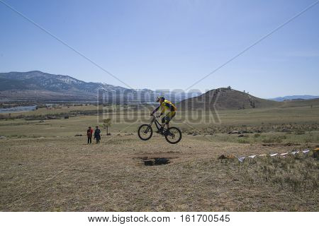 Ulan-ude, Russia - April 27: Unknown Racer On The Competition For The
