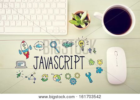Javascript Concept With Workstation