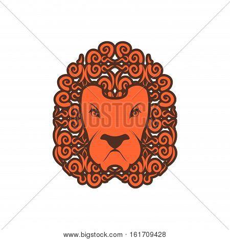 Lion Tattoo. Mane Ornament. Leo Tattooing. Wild Animal