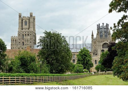 Ely Cathedral an Anglican cathedral in the English city of Ely Cambridgeshire.