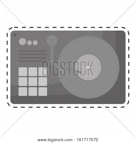 turntable music icon image vector illustration design