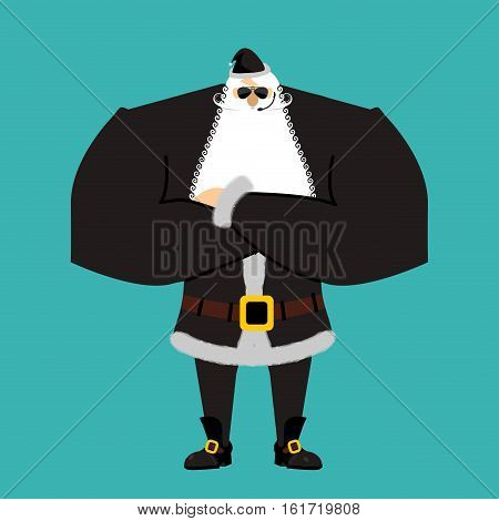 Santa Claus Bodyguards. Christmas Guards. Protecting New Year. Defenders Gifts For Children