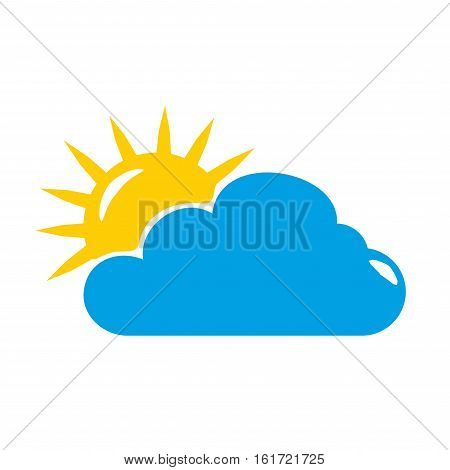 Weather symbol isolated on white background. Weather symbol vector. Weather icon . Weather logo .