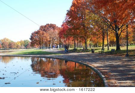 Colorful Seasons: Reflecting Pool