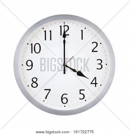 Four o'clock on the dial round clock
