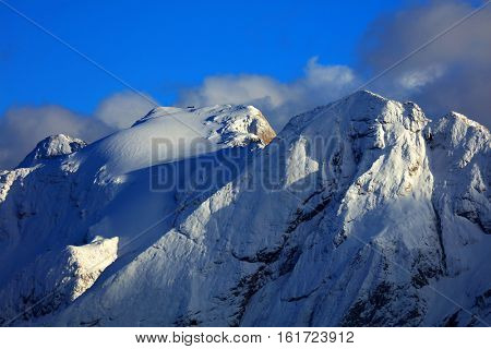 Image of Gran Vernel Peak and Marmolada, South Tirol, Dolomites Mountains, Italy, Europe