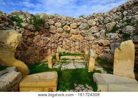Ggantia megalithic site island Gozo one of oldest sites