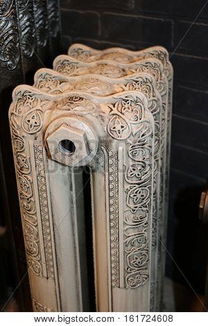 Cast iron radiators, reproduced from originals of past centuries