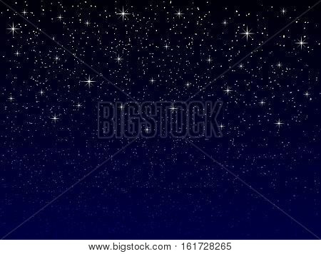 vector night sky with snowflakes and stars suitable for christmas or new year greeting card seasonal winter concept