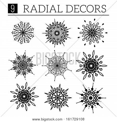 Radical design elements. Easy to edit vector illustration.