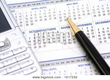 Business Calendar With Mobile Phone