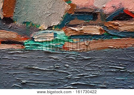 Abstract art background. Oil painting on canvas. Hand-painted. Contemporary art. Fragment of artwork.