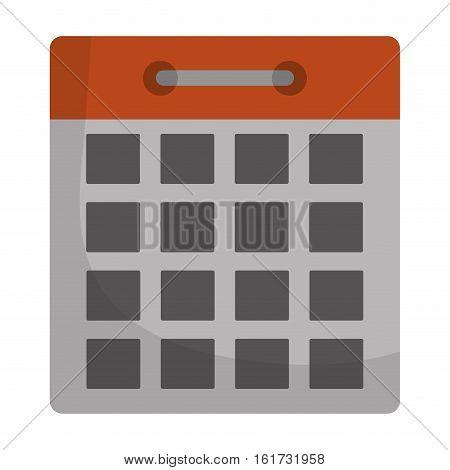 calendar representation icon image vector illustration design