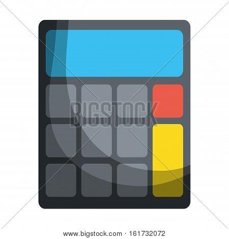 calculator representation icon image vector illustration design