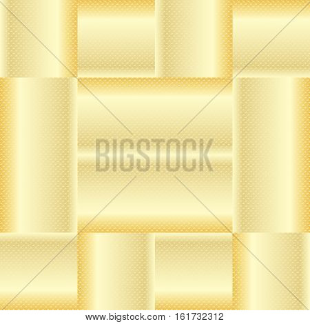 Geometric gold beige background. Vector abstract background