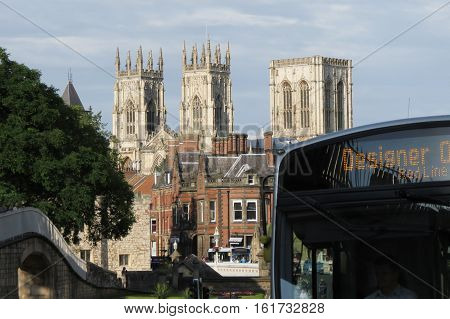 York Minster And Bus