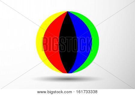 Colorful beach ball vector illustration , ball,