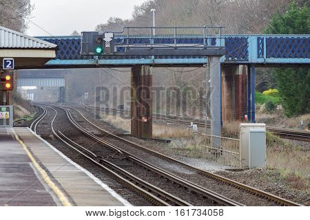 Hook station on the south western mainline in Hampshire, South east england