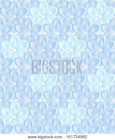 floral background or seamless pattern - vector illustration