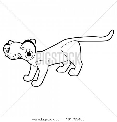 Coloring cute cartoon animals collection. Cool funny illustration of Civet