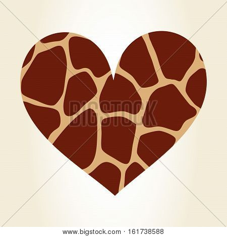 heart giraffe animal print pattern image vector illustration design