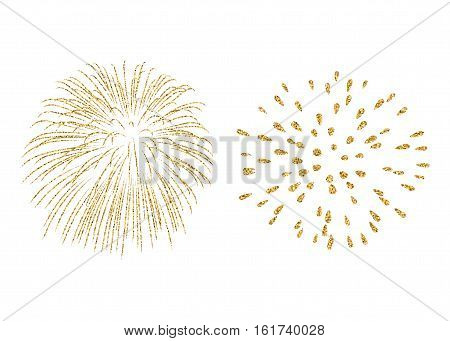 Firework Gold Isolated Set