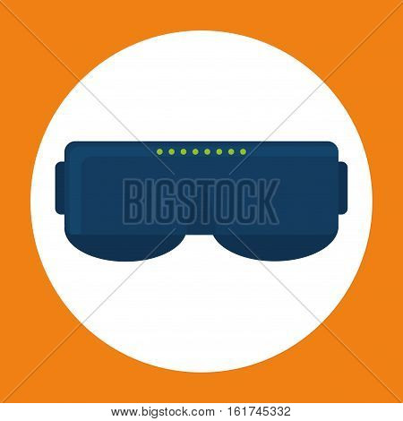smart glasses wearable technology icon image vector illustration design