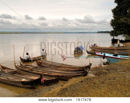 Fishing Boats On River