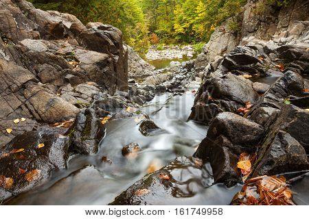 Split Rock Falls in the Adirondacks during Autumn
